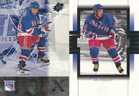 Theoren Fleury Lot of 2 different Upper Deck 2000-01 NY Rangers Hockey Cards