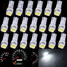20 x T5 Xenon White 74 1 SMD 5050 LED Dashboard Gauge Wedge Lamp Light Bulbs Car