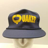 VTG Quaker Chemical Navy Blue Advertising Trucker Ball Cap Hat Industrial Compan