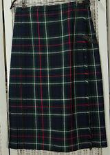 "JEDBURGH KILTMAKERS Vintage Tartan Kilt 29""W Plaid Skirt Green Blue White Red"