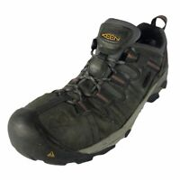 KEEN Mens Hiking Shoes Gray Green Lace Up Low Top Sneakers 11.5 EE