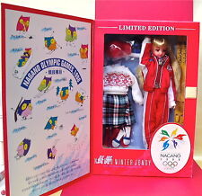 TAKARA JENNY OFFICIAL NAGANO WINTER OLYMPIC 1998 SKI DOLL RARE LIMITED EDITION