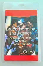 BRUCE HORNSBY & FRIENDS 10-27 1995 LAMINATED BACKSTAGE PASS GUEST