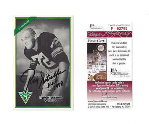 PACKERS Ray Nitschke signed Archives postcard w/ HOF 1978 JSA COA autographed