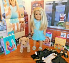 """EUC 18"""" American Girl of the Year 2003 Kailey Doll w Dog*Books*PC Recital Outfit"""
