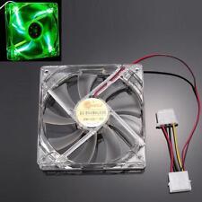 Quad 4-LED Light Neon Clear 120mm PC Computer Case Cooling Fan Mod