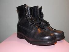 1980's Made in Maine, USA Survivor Boots Black Leather Men's Size 9 1/2 M (used)