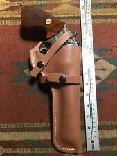 """Fits Ruger GP100 Security Six Taurus Model 66 627 6"""" Leather Field Holster Used"""