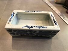 Antique Chinese Blue and White Porcelain Rectangular Dish
