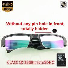 32GB HD1080P Spy Camera Hidden Cam Half Frame Glasses Eyewear Camcorder MINI DVR