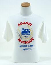Andre Agassi John McEnroe 1994 Pepsi Tennis Challenge Autographed T-Shirt Large