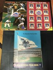 1972 - 1973 - 1974  NEW YORK METS BASEBALL YEARBOOKS Lot  Seaver - NLCS + Ticket