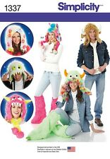 Simplicity Pattern 1337Adult & Teen Whimsical Monster Theme Hats and Leg Warmers
