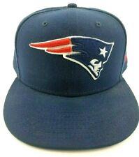 New Era 59FIFTY NFL Official New England Patriots Blue Sized Cap Hat 7 3/4 EUC