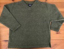 Gap Boys Pullover XS Heather Green V Neck Sweater Soft Warm 4-6