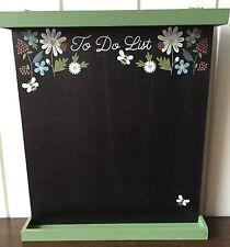 Gisela Graham Kitchen Chalkboard & Shelf Memo 'To Do List' Green Floral Garden