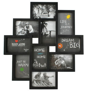 Bilderrahmen Collage für 10 Fotos Bilder Kunststoff 10x15 Familie  6297