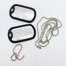 TOP GUN PETE MITCHELL MAVERICK STAINLESS STEEL ARMY DOG TAGS SET - THEDOGTAGCO