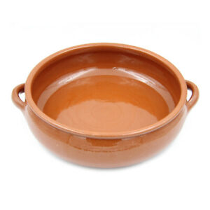 Traditional Portuguese Vintage Clay Terracotta Cooking Pot Cazuela