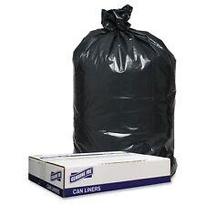 "Genuine Joe 1.2mil Black Trash Can Liners - 33"" Width X 39"" Length X 1.20 Mil"