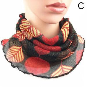 Reusable Women Anti-UV Hanging Ear Scarf Face Cover Windproof Chiffon Sun proof