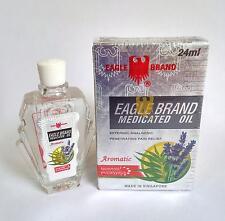 Eagle Brand Medicated Oil 24ml Aromatic Nausea Giddiness Headache Sprain 鹰标德国风油精