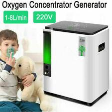 1-8L/min O2-Concentrator Machine-OXYGEN-Generator Humidifiers & Anion Home Care