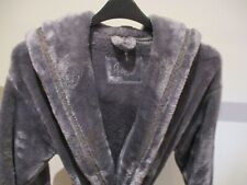 M&S Ladies Dressing Gown  WITH HOOD ROBE- HOUSECOAT Size 12-14     seconds