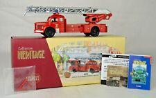 """Corgi #73502 """"Marseille"""" Berliet Grande Ladder Fire Truck 7 3/8"""" Long Mint W/Box"""