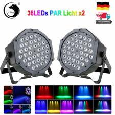 2X 72W 36 LED PAR Can DMX RGB Bühnenbeleuchtung Bar DJ Show Hochzeit Party Licht