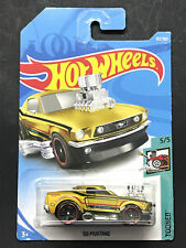 HOT WHEELS 2018 5/5 TOONED FORD 68 MUSTANG GOLDEN 157/365