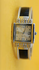 Working Condition Ladies Fun Fashion Silver Tone Quartz Bangle Wrist Watch