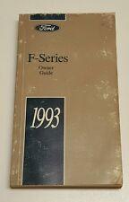 1993 FORD F-SERIES F-150 F-250 F-350 OWNERS MANUAL V8 5.8L 5.0L V6 4.9L XL S 4X4