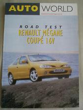 Renault Megane Coupe 16v Autoworld carretera prueba imprimir folleto c1996