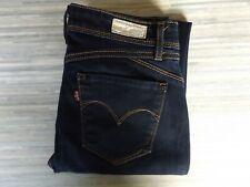 Ladies Levi Strauss & Co. Demi Curve Revel Skinny Fitting Blue Jeans W26 L32