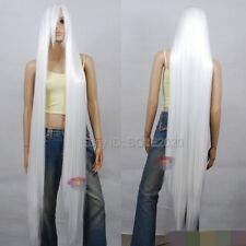 150cm Extra Long White Straight Long Wig - 60 inch High Temp Cosplay Hair Wigs