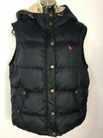 WOMENS JACK WILLS NAVY BLUE FLEECE LINED ZIP UP GILET COAT JACKET SIZE UK 12