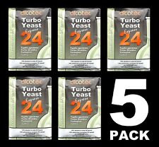 TURBO YEAST 5 PACK 24 HOUR TURBO YEAST ALCOTEC 20% ALCOHOL FOR THE WHISKEY STILL