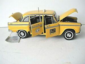 Franklin Mint Rare New York City Edition 1963 Checker Taxi Cab 1/24 Scale