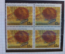 1982 AUSTRALIA Blk 4 TORTISE MINT STAMPS