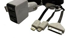 2 in1 Dual USB Car Charger-2AMP and 3 in 1 Cable set For Amazon Fire Phone -New-