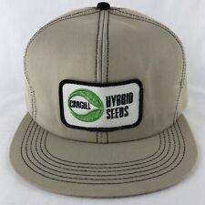 Cargill Hybrid Seeds Patch Mesh Snapback Trucker Hat Cap K Products Tan Vintage