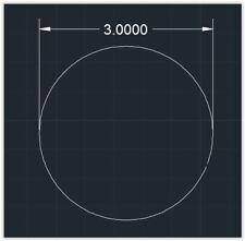 1pc Acrylic Plastic (Plexiglass) Circle - 1/16