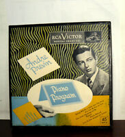"ANDRE' PREVIN  PIANO PROGRAM  7""  BOX  U.S.A.  50'S RCA VICTOR MUSICAL SMART SET"