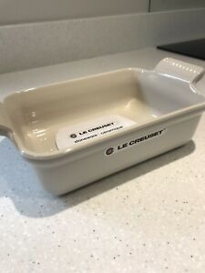 LE CREUSET 18x13cm Stoneware Cotton Colour Oven Dish Brand New