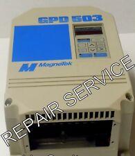 REPAIR SERVICE- HAAS MAGNETEK GPD503-DS307,  G3, 23P7, 230V, 3.7kW, 5HP