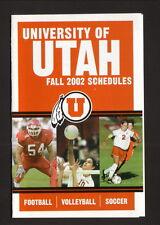 2002 Utah Utes Football/Fall Sports Schedule--Wells Fargo