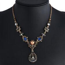 Elegant Fashion Flower Pendant Necklaces Choker Chunky Bib Statement Chain Gifts