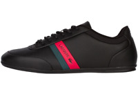 LACOSTE STORDA 318 1 U CAM BLK/RED LEATHER/SUEDE MENS SHOES 7-36CAM00741B5
