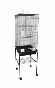 """YML 6924 3/8"""" Bar Spacing Tall Flat Top Bird Cage with Stand 18"""" x 18""""/Small"""